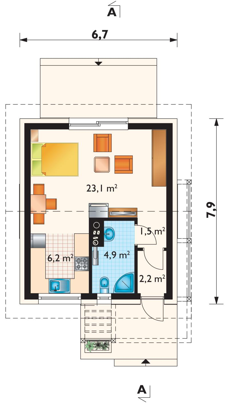 Проект дома Малыш (E-323)