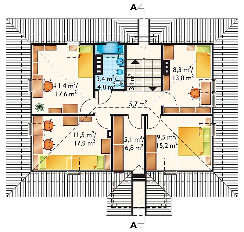 Проект коттеджа Малый Двор (E-329)