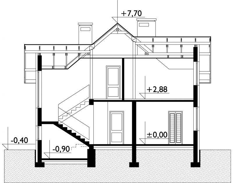 Проект дома Мануэлла - зеркальное отражение (E-333)