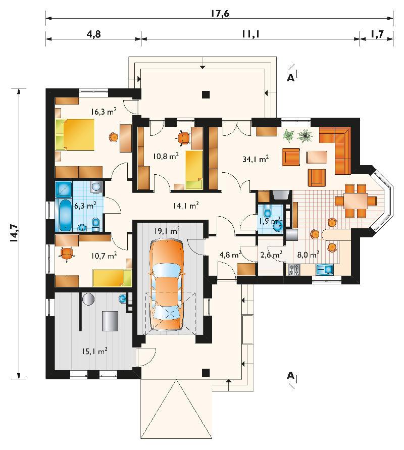 Проект дома Марика (E-728)