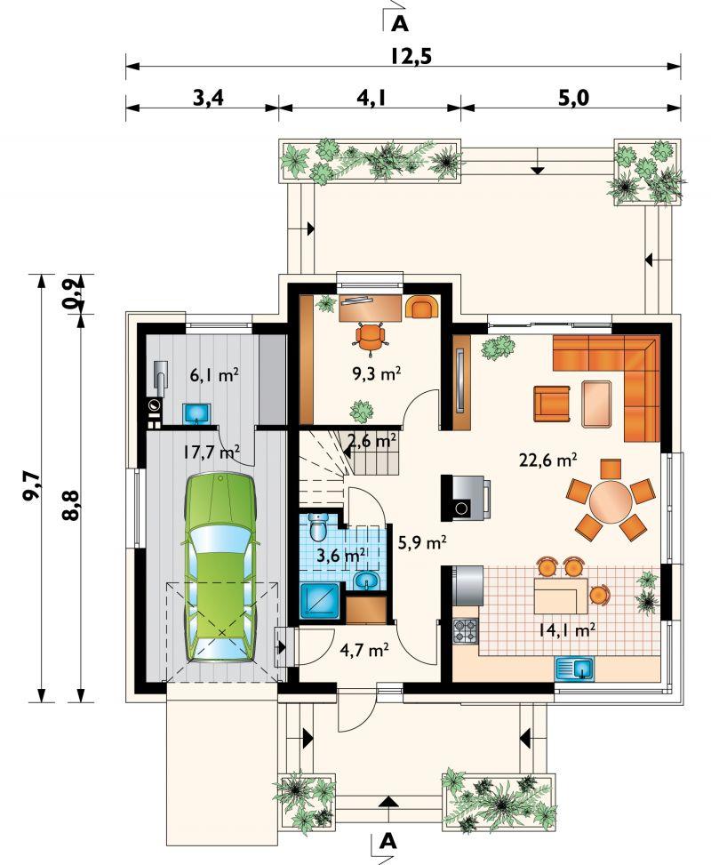 Проект дома Марлена Нова (E-1300)