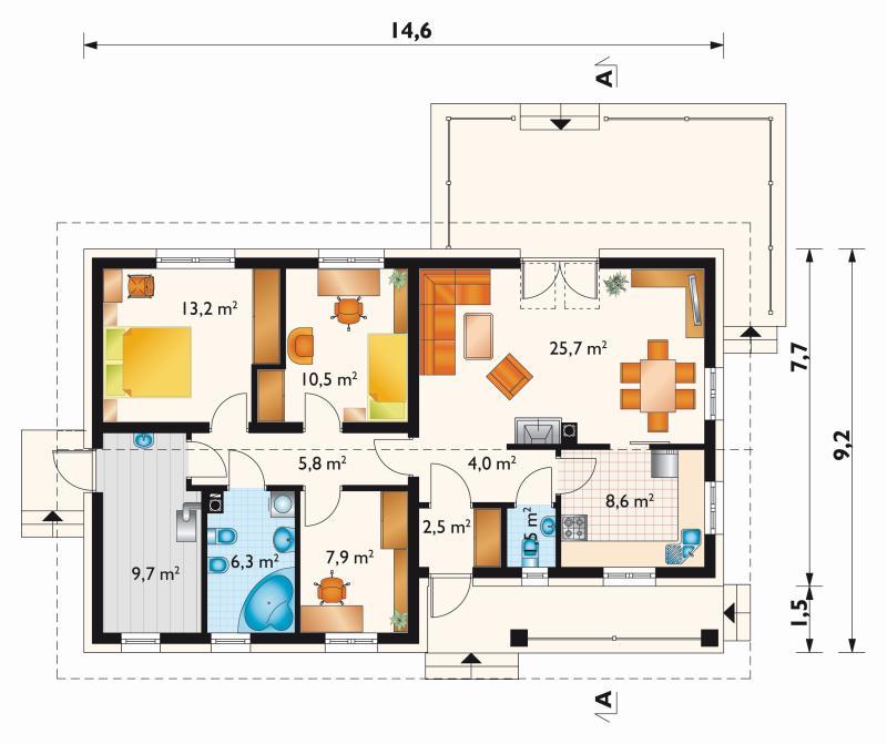 Проект дома Мудролюб 2 Эко (E-1159)