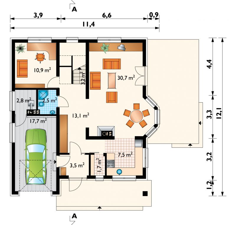 Проект дома Отличник (E-702)