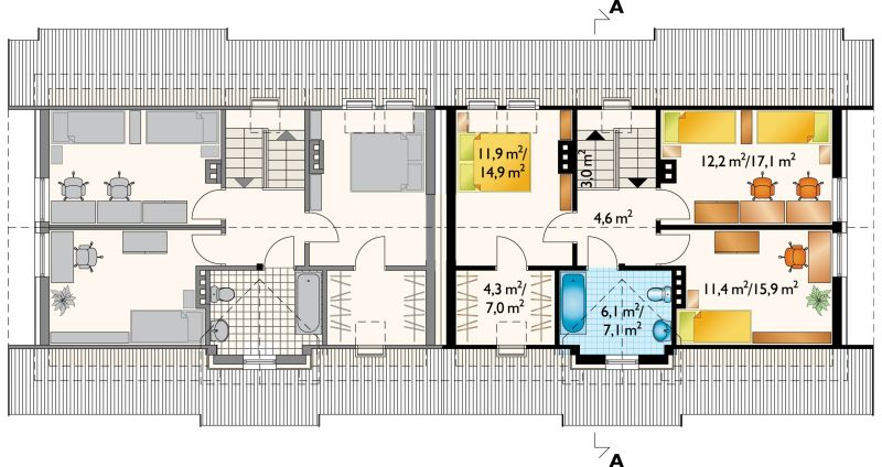 Проект дома Журавль Дуо (E-761)