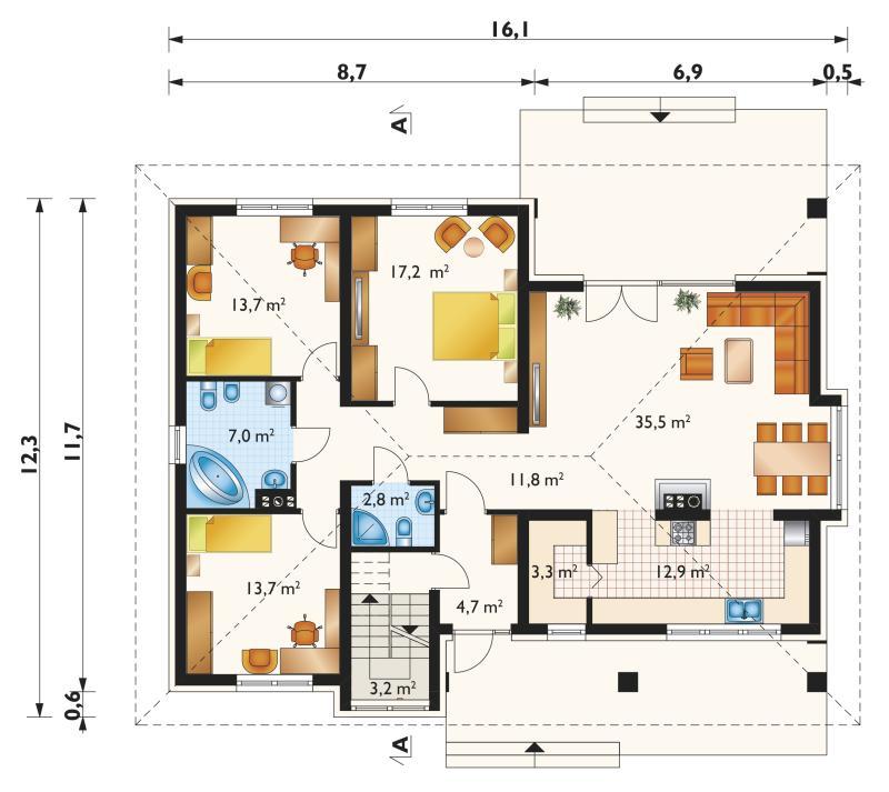 Проект дома Регина Ультра (E-1194)