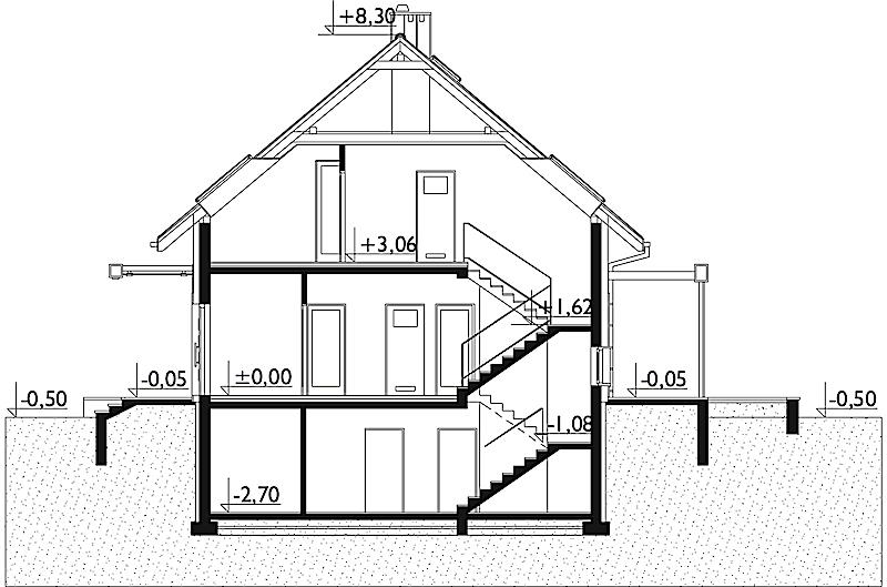 Проект дома Рената - зеркальное отражение (E-1272)