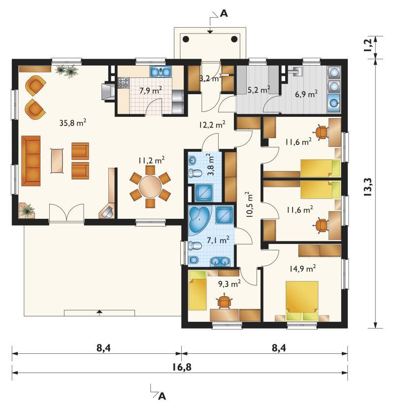 Проект дома Ромашка (E-446)