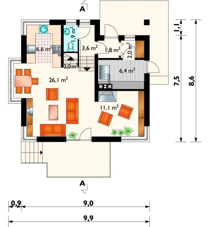 Проект дома Сабина (E-716)