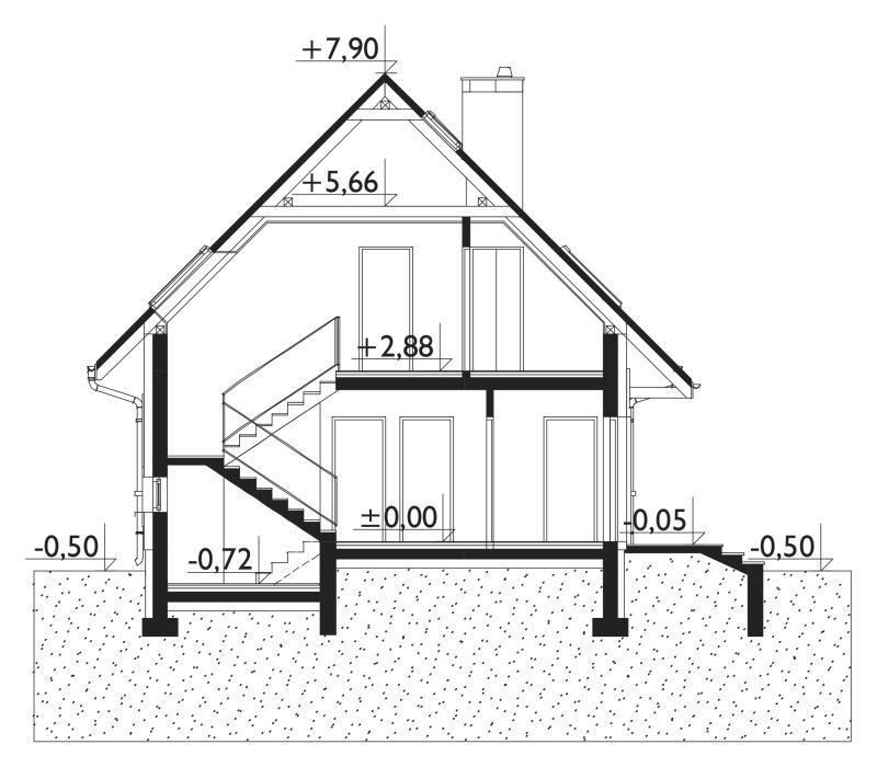 Проект дома Самбор Бобо - зеркальное отражение (E-1122)