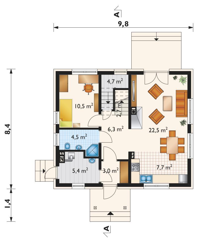 Проект дома Самбор Мини (E-983)