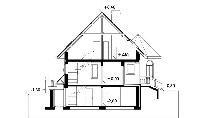 Проект дома Скрипач - зеркальное отражение (E-457)