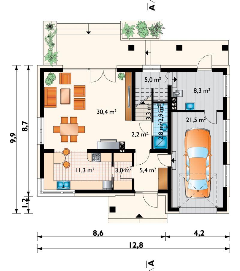 Проект дома Скрябик Ас (E-1277)