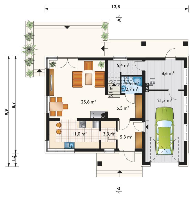 Проект дома Скрябик Рекс (E-1203)