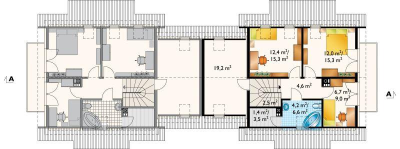 Проект коттеджа Смычок - 2 Дуо (E-760)
