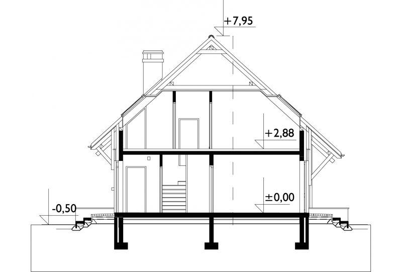 Проект дома Смычок - 2 Дуо (E-760)