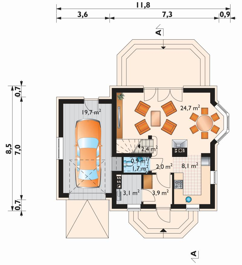 Проект дома Смычок Прима (E-1017)
