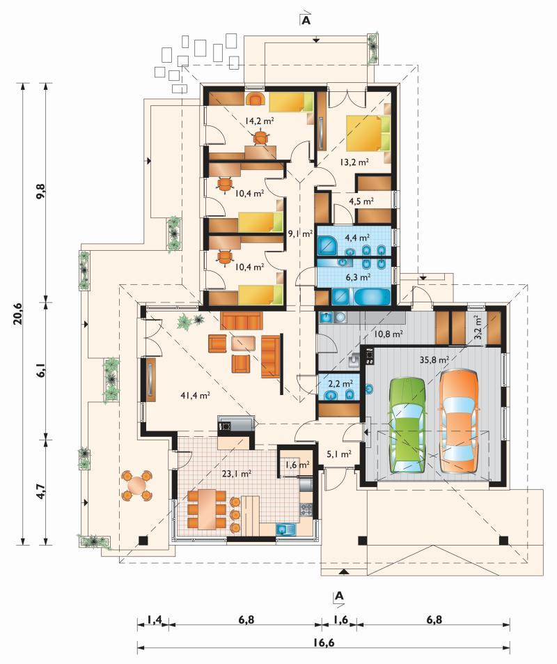 Проект дома Тамара Нова (E-1262)