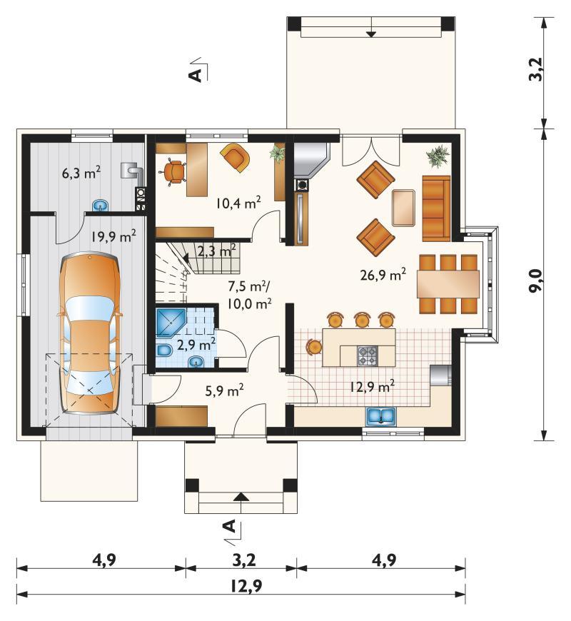 Проект дома Тарот Ату (E-1145)
