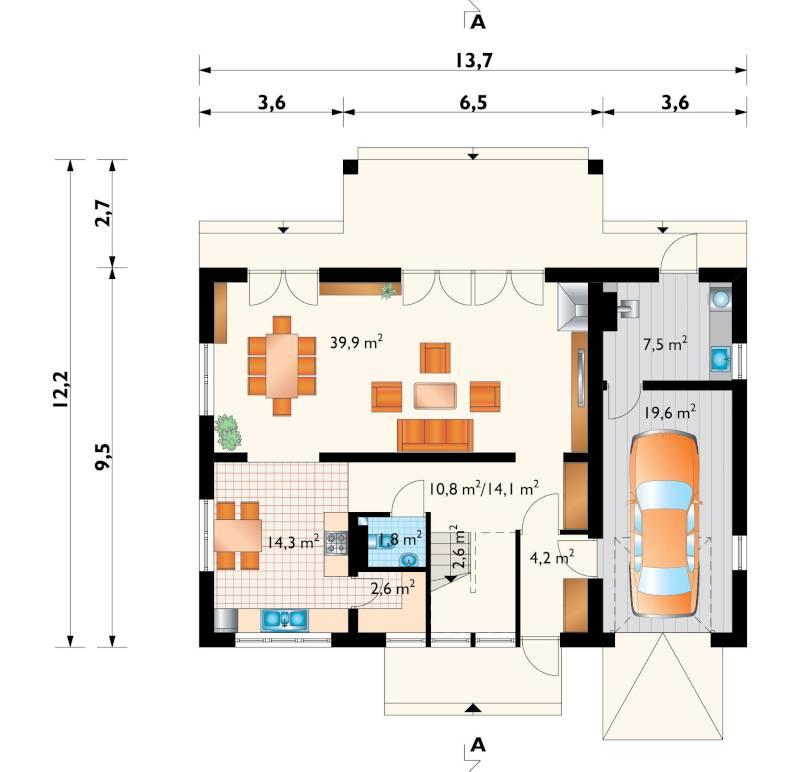 Проект дома Тетра (E-827)
