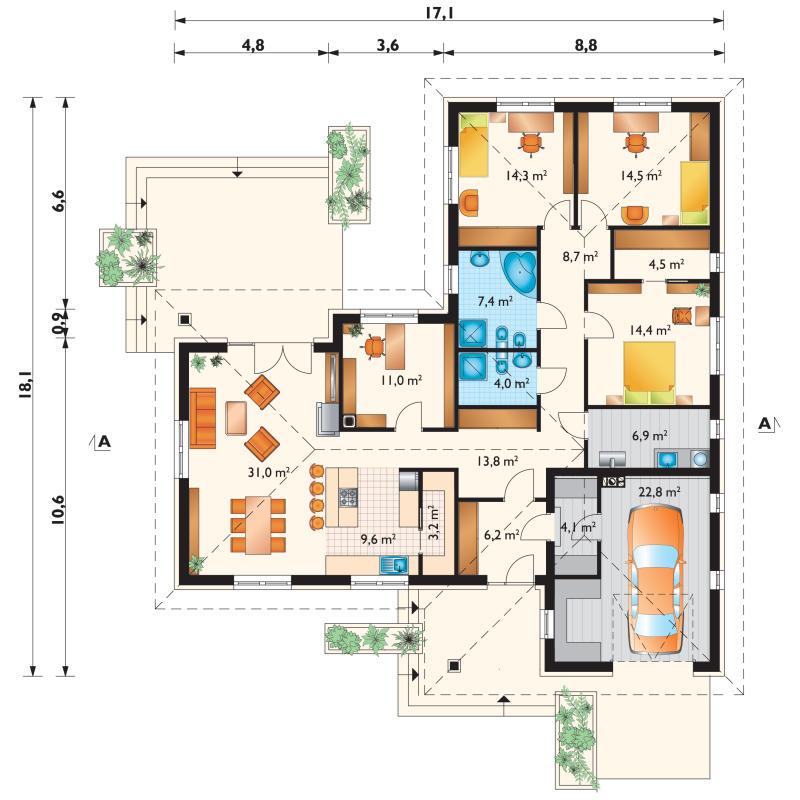 Проект дома Тимофей (E-515)