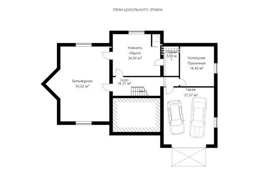 Проект коттеджа ГП-82-06 (E-8)