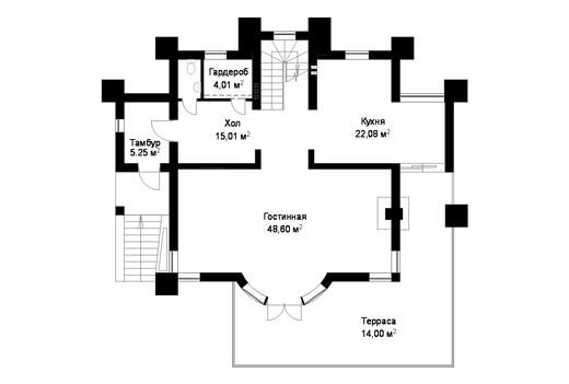 Проект коттеджа ГП-93-05 (E-14)