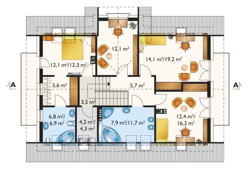 Проект дома Захира - зеркальное отражение (E-1185)