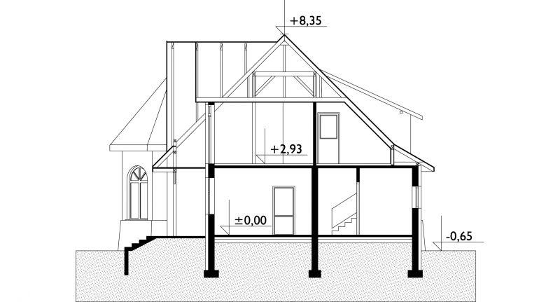 Проект дома Замочек - 2 (E-542)