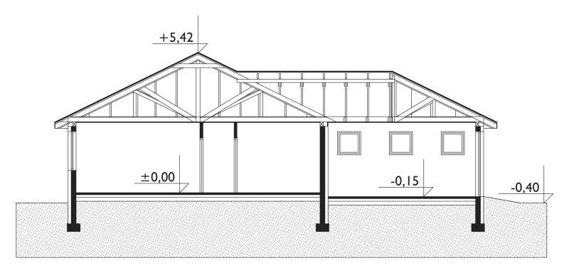 Проект дома Зверобой - зеркальное отражение (E-543)