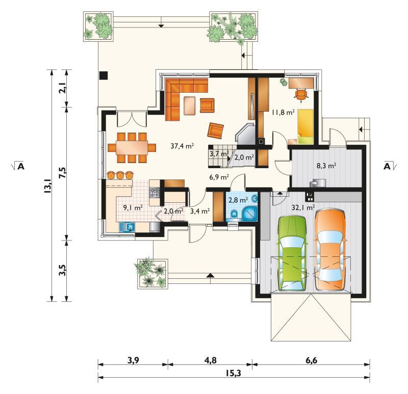 Проект дома Зенон Ату (E-1260)