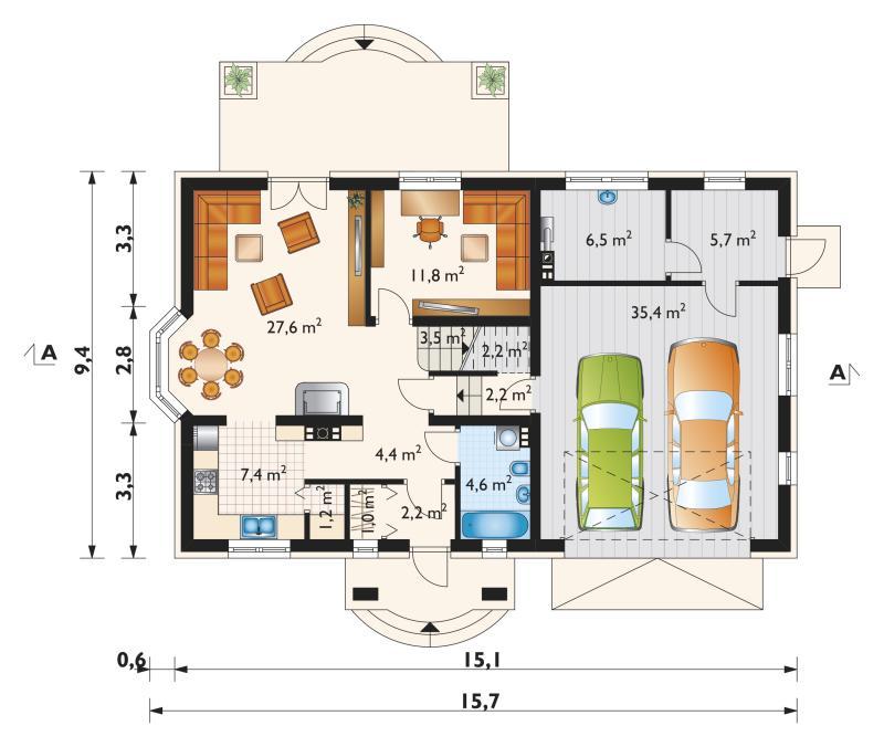 Проект дома Софи Портик Г2 (E-1009)