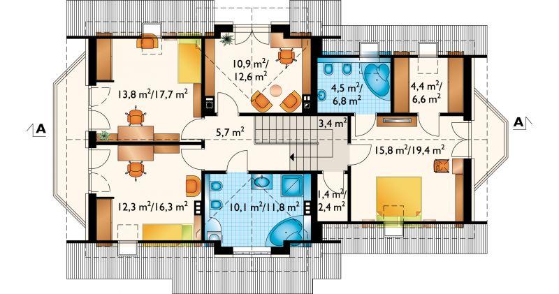 Проект дома Зоя Люкс Г2 (E-909)