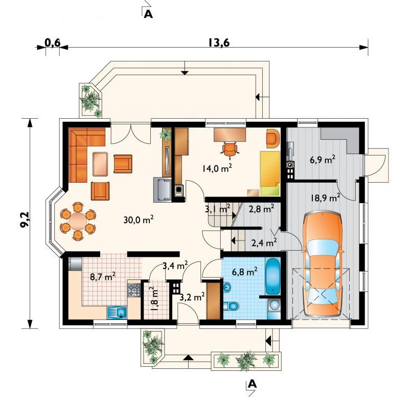 Проект дома Зоя плюс Люкс (E-850)