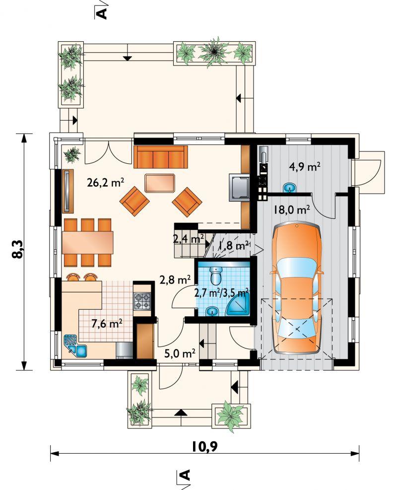 Проект дома Зойка Нано (E-1224)