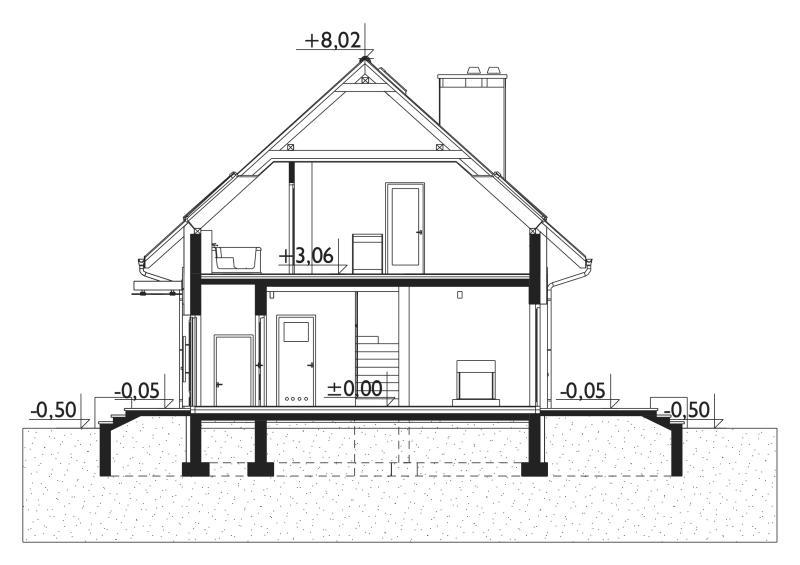 Проект дома Зойка Нано - зеркальное отражение (E-1224)