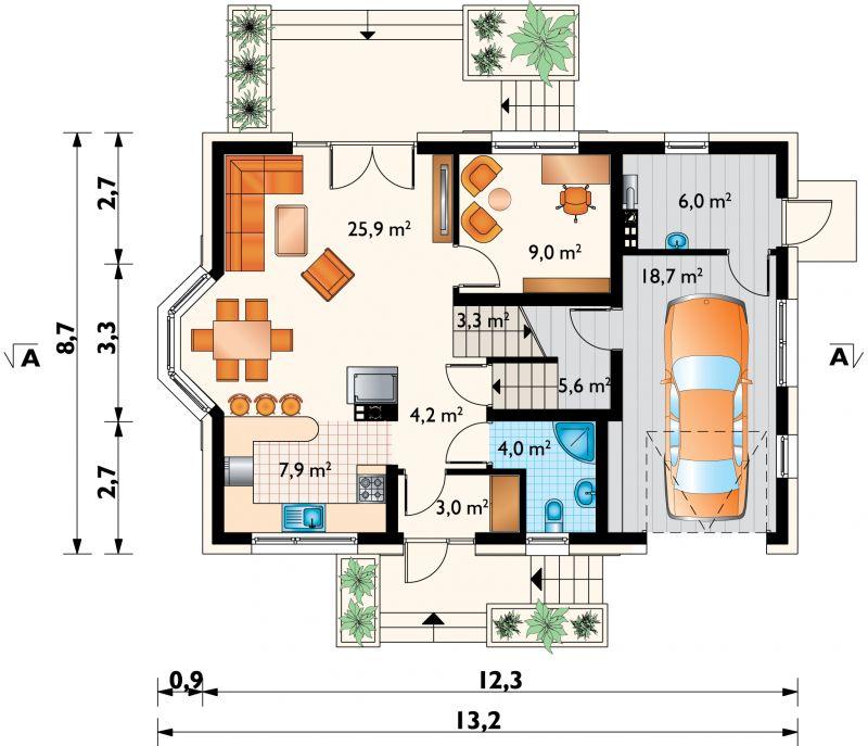 Проект дома Зойка Сток (E-1234)
