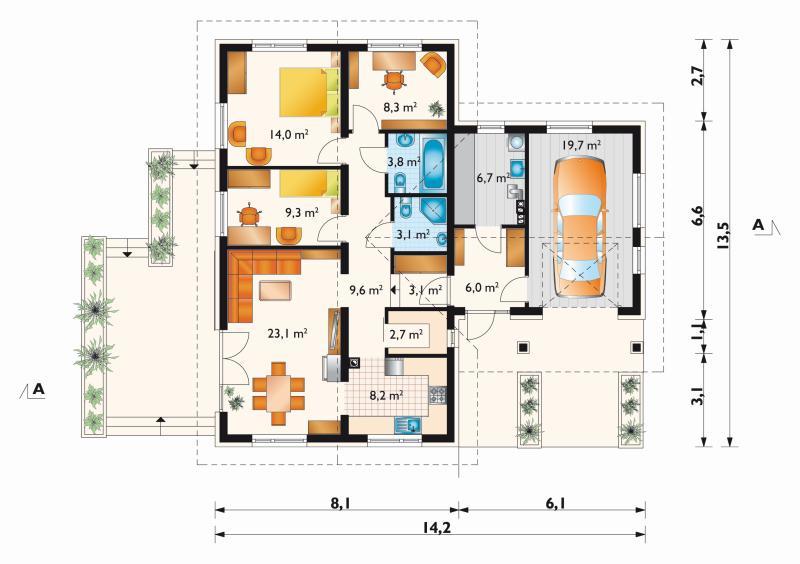 Проект дома Жучок (E-561)