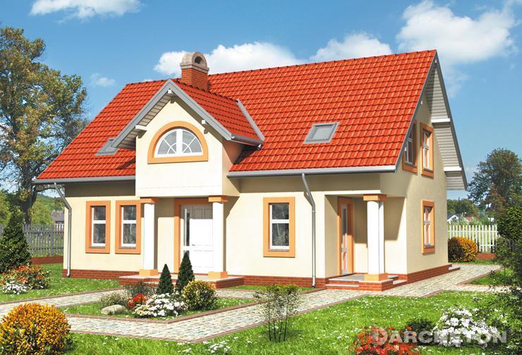 Projekt domu Adonis - dom w stylu dworkowym, gościnny wygląd i przestronne wnętrze