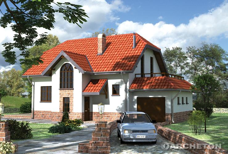 Projekt domu Agawa - dom z tarasem na bocznej ścianie, idealny na relaks w letnie dni