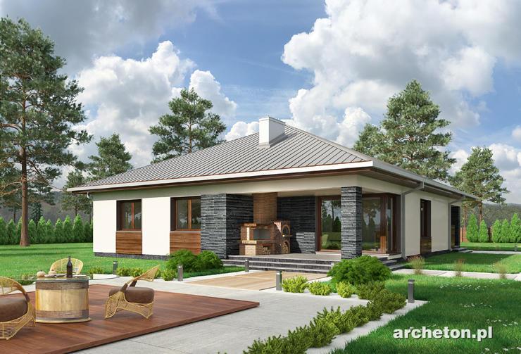 Projekt domu Ajaks - atrakcyjny i nowoczesny dom parterowy, z 3 sypialniami i przestronnym salonem