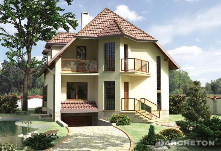 Projekt domu Akacja - finezyjny i niebanalny dom, całkowicie podpiwniczony, z garażem w piwnicy