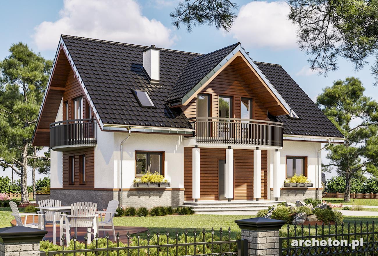 Проекты домов с мансардой и балконом: фото одноэтажной терра.