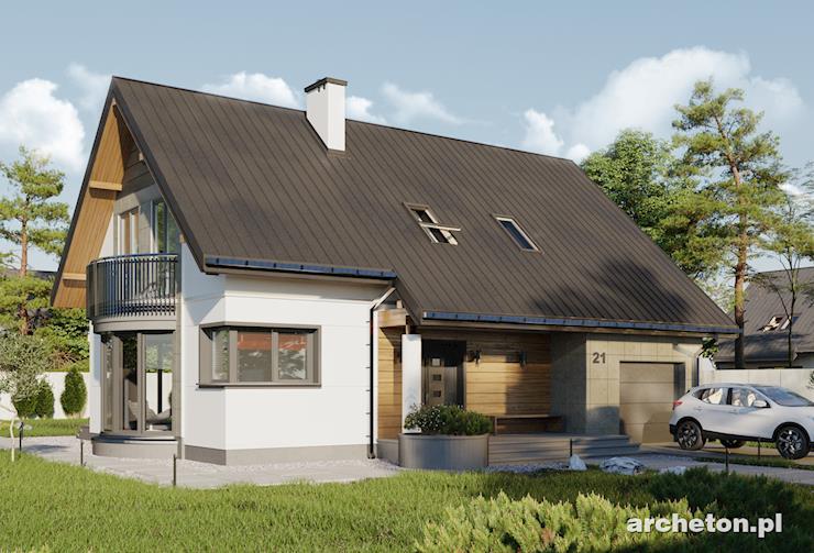 Projekt domu Alba - funkcjonalny dom, z przeszkloną jadalnią i dużym salonem