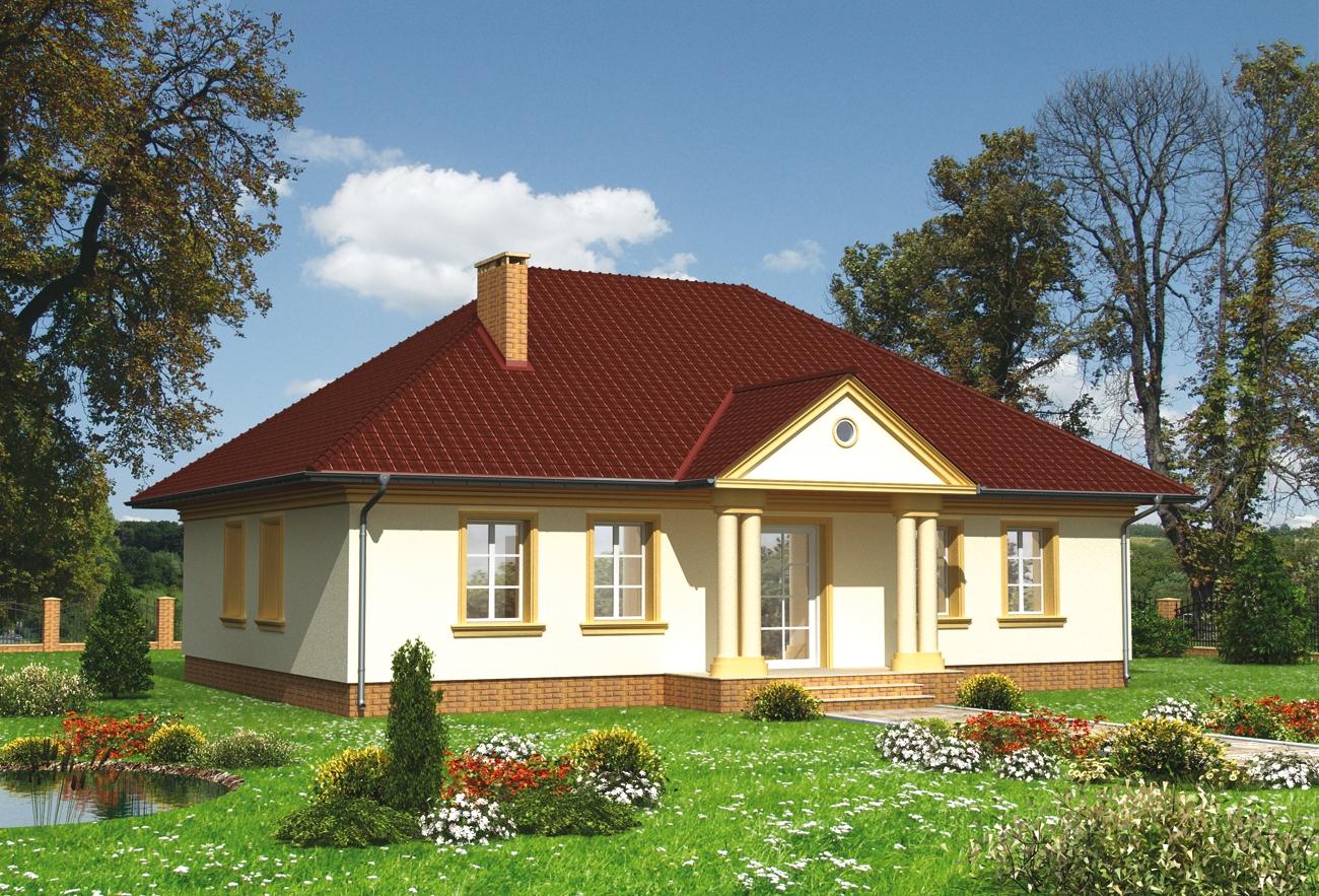 Projekt domu Aleksandria dom z portykami