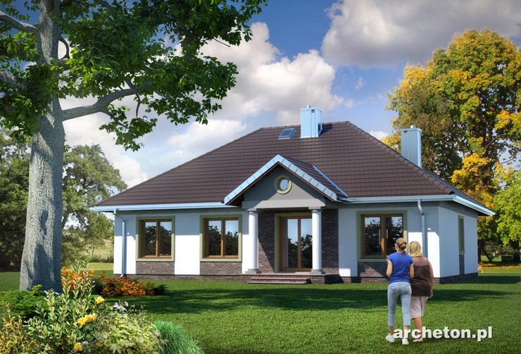 Projekt domu Aleksandria Hera - piękny dom parterowy w stylu dworkowym, o powierzchni do 120 m2