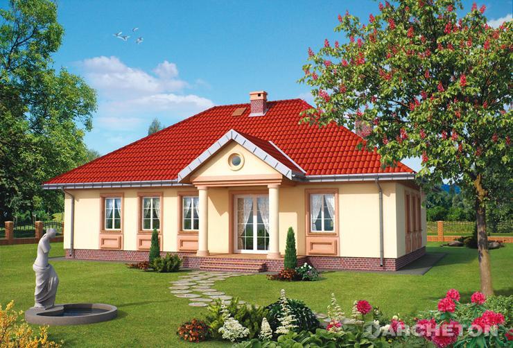 Projekt domu Aleksandria Hera - dom w stylu dworkowym, z gabinetem, kotłownią i pralnią