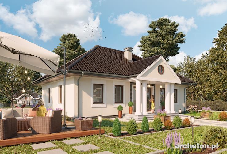 Projekt domu Aleksandria Rex - atrakcyjny dom parterowy z dużym garażem, ciekawa bryła budynku