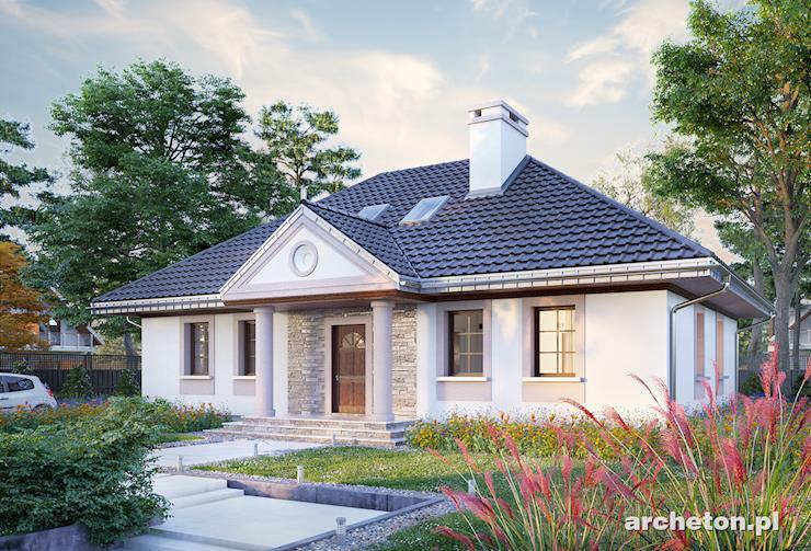 Projekt domu Aleksandria Tura - duży dom w stylu dworkowym, z użytkowym poddaszem