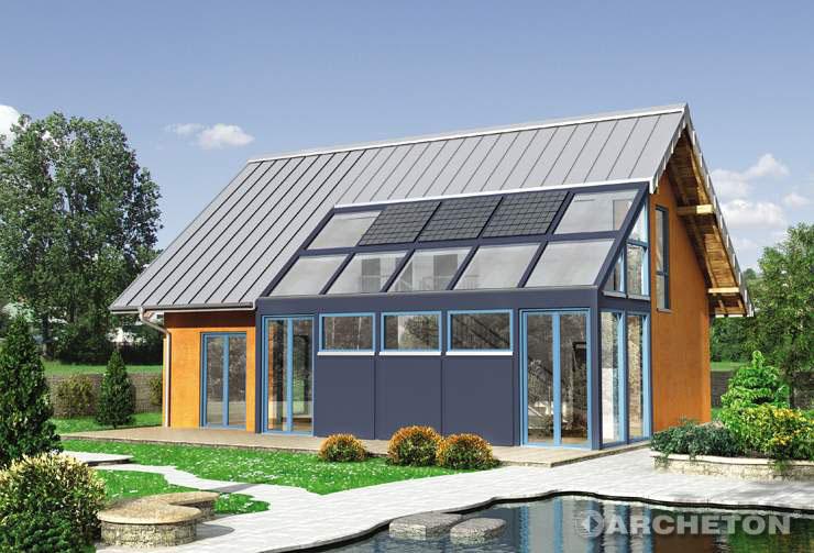 Projekt domu Alexander - wyróżniający się i innowacyjny dom z przeszklonym salonem