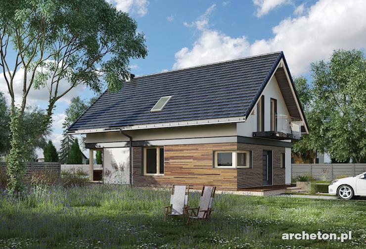 Projekt domu Alfred - atrakcyjny dom na wąską działkę, z użytkowym poddaszem